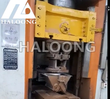 Automatic weighing and feeding machine customer's site