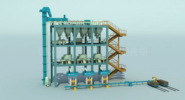 The automatic production line of firebrick