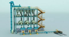 Magnesium carbon brick automatic production line