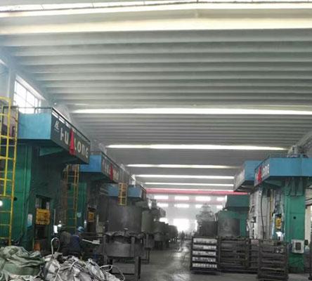 1600 ton electric screw press customer site